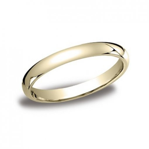 Benchmark 3mm Comfort Fit 14K Yellow Gold Plain Wedding Ring Band