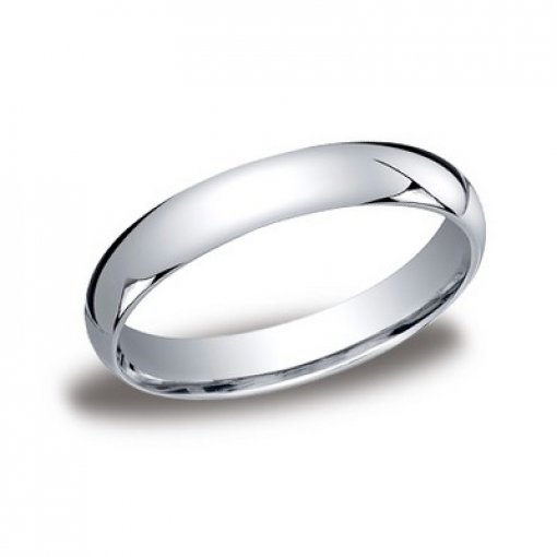 Benchmark 4mm Comfort Fit Platinum Plain Wedding Ring Band
