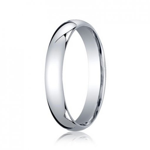Benchmark 4mm Comfort Fit 14K White Gold Plain Wedding Ring Band