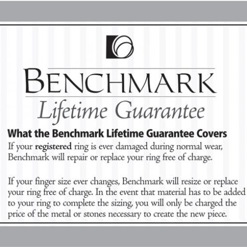 Benchmark 4mm Comfort Fit 18K White Gold Plain Wedding Ring Band