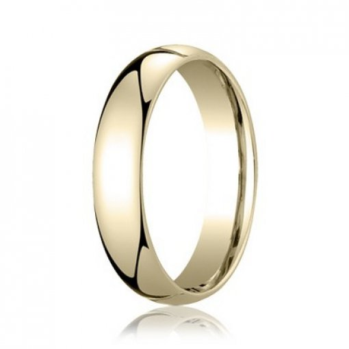 Benchmark 5mm Comfort Fit 18K Yellow Gold Plain Wedding Ring Band