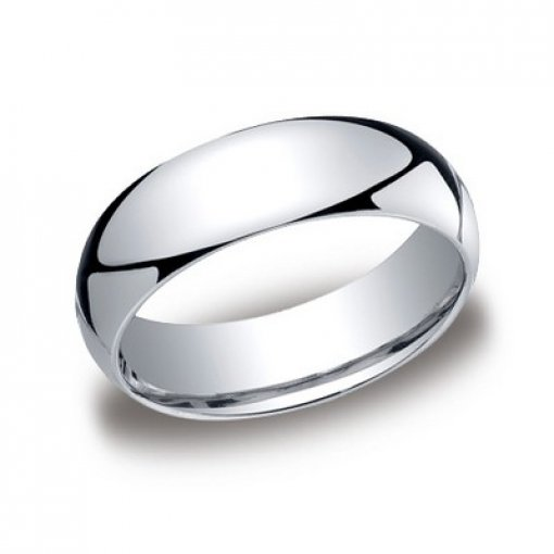 Benchmark 7mm Comfort Fit Platinum Plain Wedding Ring Band