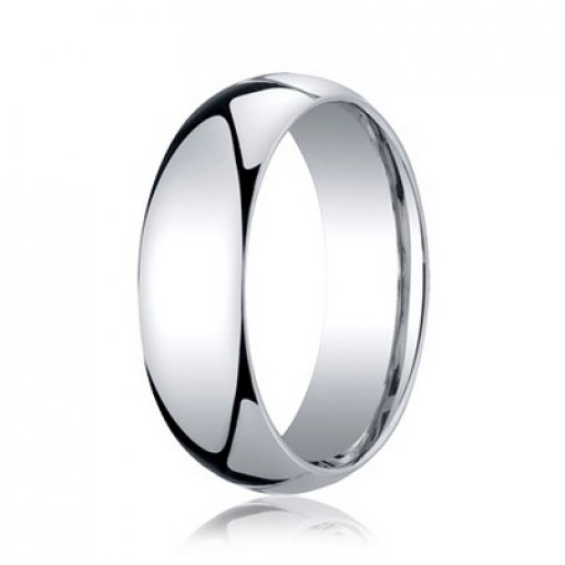 Benchmark 7mm Comfort Fit 14K White Gold Plain Wedding Ring Band