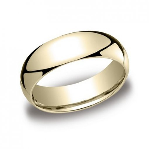 Benchmark 7mm Comfort Fit 18K Yellow Gold Plain Wedding Ring Band