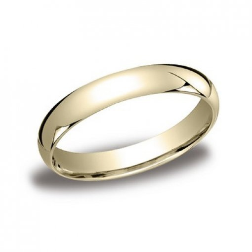 Benchmark 4mm Comfort Fit 14K Yellow Gold Plain Wedding Ring Band