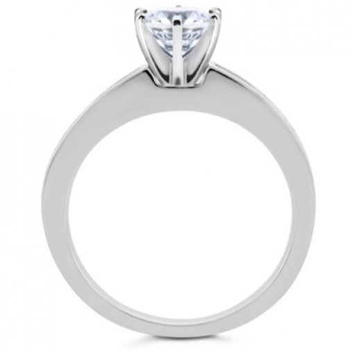0.70 carat Princess Diamond Engagement Accent Setting (Asscher Center)