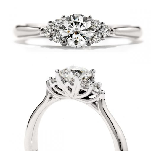 0.40 carat Round Diamond Cluster Engagement Setting (Round Center)