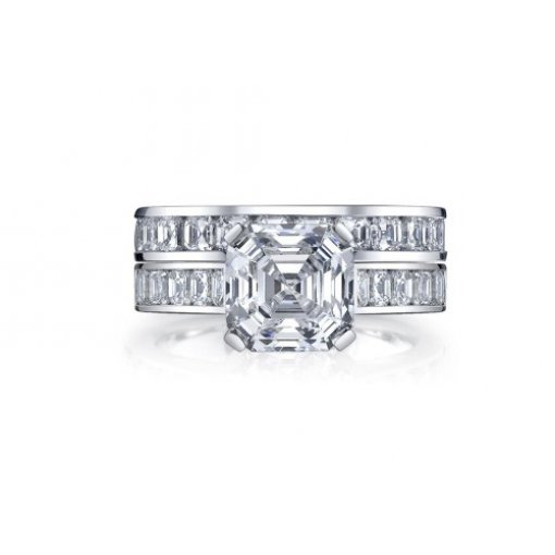 2.5 carat Asscher  Bridal Set