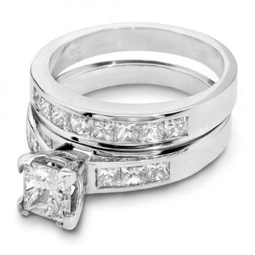 1.7 carat Princess Bridal Set