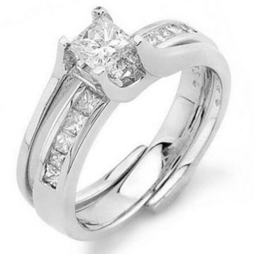 0.6 carat Princess Bridal Set