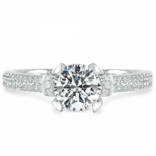 1.36ct Round White Gold Diamond Engagement Ring