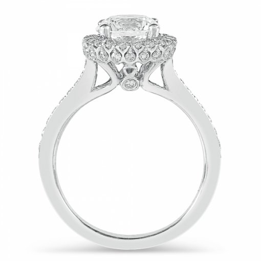 2.01ct Round Diamond White Gold Engagement Ring