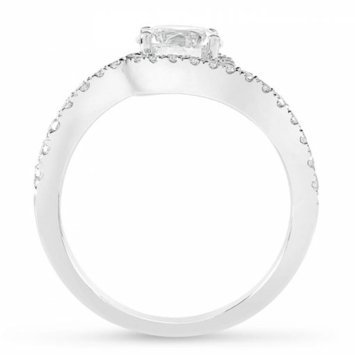 Semi-Mount 18K White Gold Diamond Engagement Ring with 0.43ctw Round Diamonds
