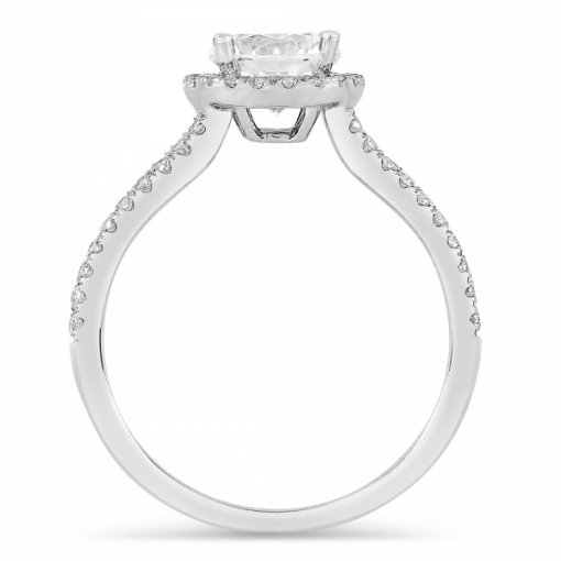 Semi-Mount 18K White Gold Diamond Engagement Ring with 0.44ctw Round Diamonds