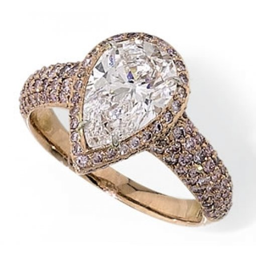 Semi Mount Halo and Pave Engagement Ring with 1.00 carat of Round Cut DIamonds