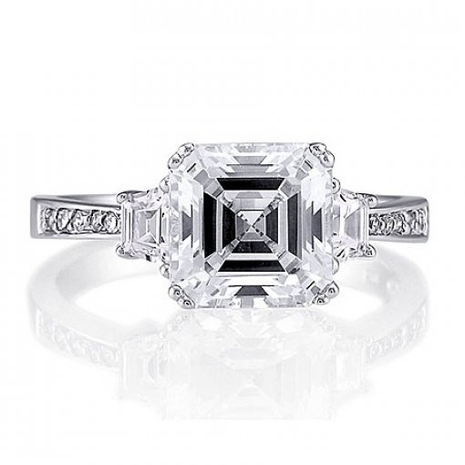 Semi Mount Diamond Accented Ring with 1.00 total carat weight of Round Cut Diamonds