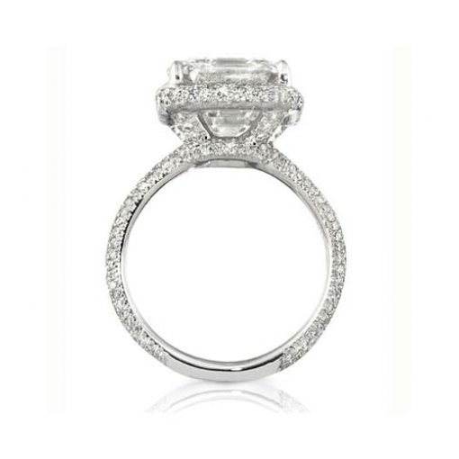 Semi-Mount 18K White Gold Pave Engagement Ring with 1.12ctw Round Diamonds