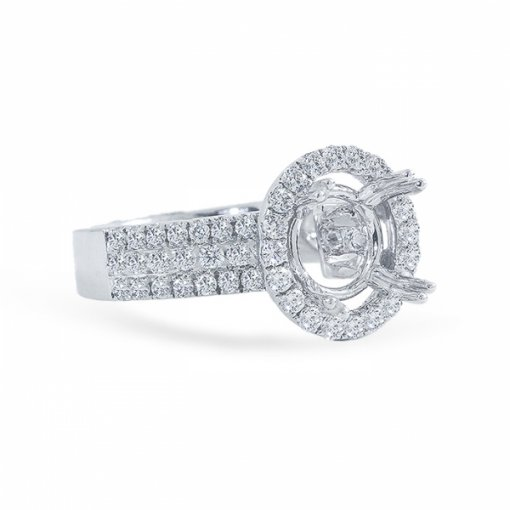 Semi-mount  Halo Style with French pave set.
