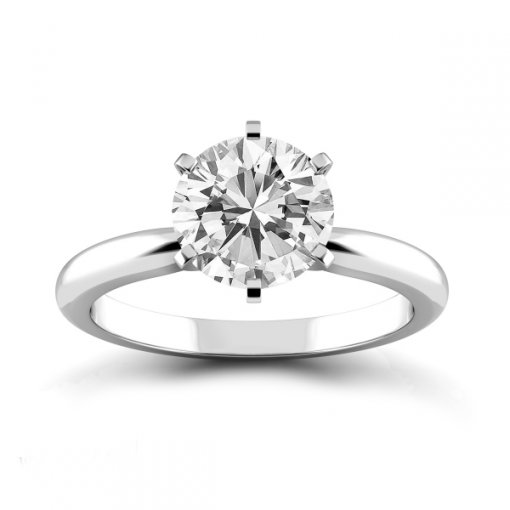 Round Solitaire Engagement Ring Setting