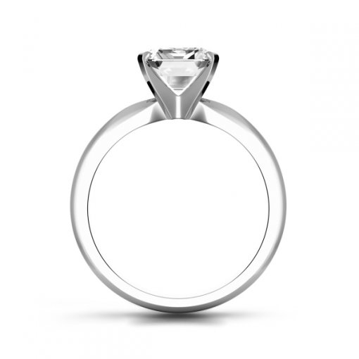 Timeless Four-Prong Emerald Solitaire Engagement Ring Setting