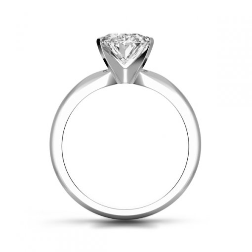 Timeless Four-Prong Oval Solitaire Engagement Ring Setting