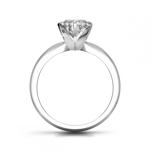 Timeless Four-Prong Pear Solitaire Engagement Ring Setting