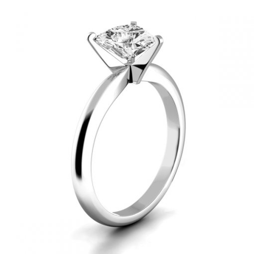 Timeless Four-Prong Trillion Solitaire Engagement Ring Setting