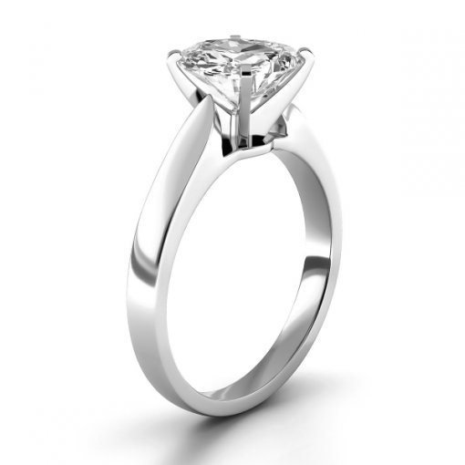 Cathedral Solitaire Engagement Ring Setting For Cushion Cut Diamonds