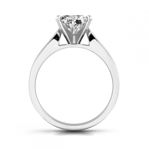 Cathedral Solitaire Engagement Ring Setting For Heart Shape Diamonds