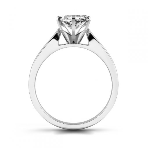 Cathedral Solitaire Engagement Ring Setting For Marquise Cut Diamonds