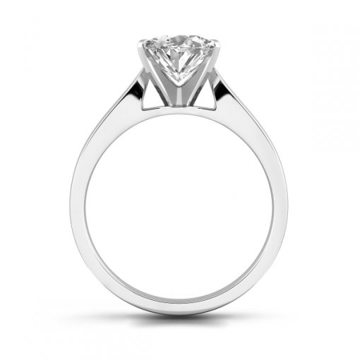 Cathedral Solitaire Engagement Ring Setting For Oval Shape Diamonds