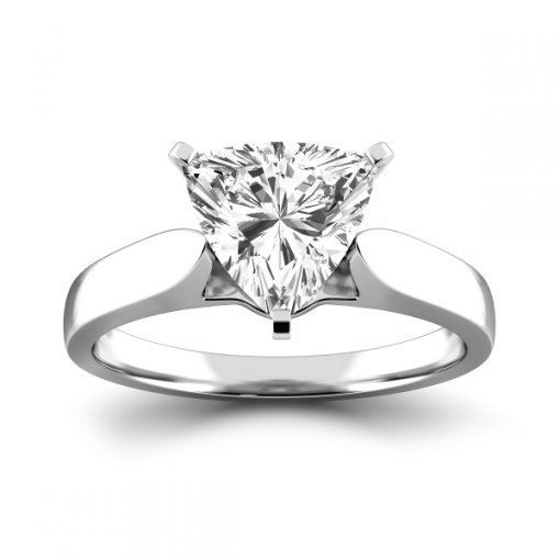 Cathedral Solitaire Engagement Ring Setting For Trillion Cut Diamonds