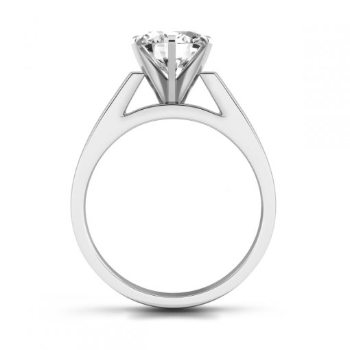 Open Cathedral Solitaire Engagement Ring Setting for Round Brilliant Diamonds