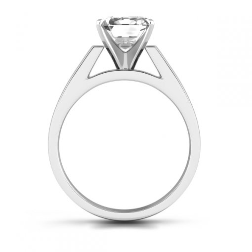 Open Cathedral Solitaire Engagement Ring Setting for Asscher Cut Diamonds