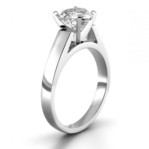 Open Cathedral Solitaire Engagement Ring Setting for Heart Shape Diamonds