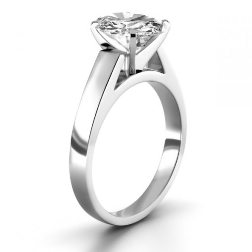 Open Cathedral Solitaire Engagement Ring Setting for Oval Shape Diamonds