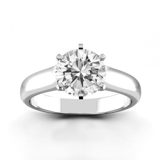 Solitaire Ring Setting for Round Brilliant Cut Diamonds