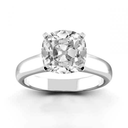 Solitaire Ring Setting for Cushion Cut Diamonds
