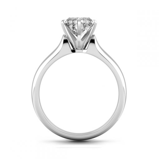 Solitaire Ring Setting for Pear Shape Diamonds