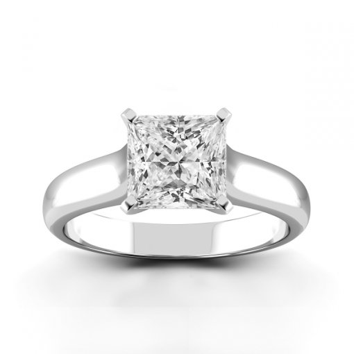 Solitaire Ring Setting for Princess Cut Diamonds