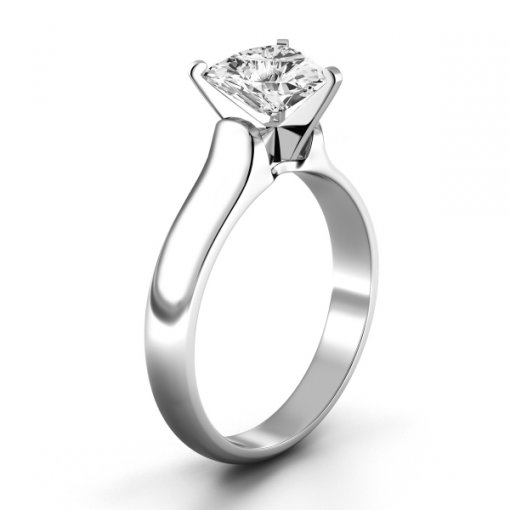 Solitaire Ring Setting for Trillion Cut Diamonds