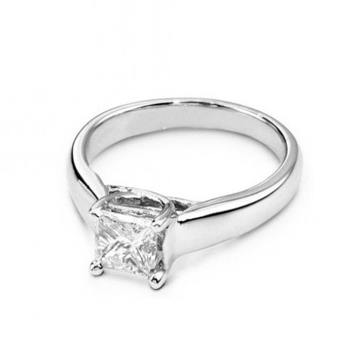 Lucida Style Solitaire Engagement Ring (Square Center)