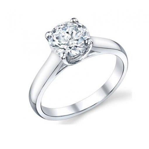 Lucida Style Solitaire Engagement Ring (Round Center)