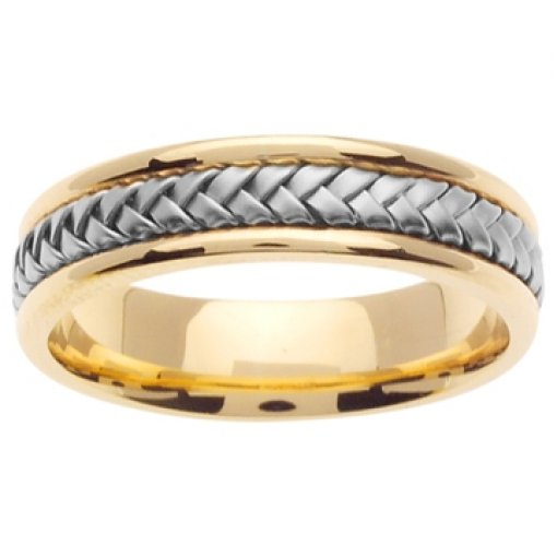 14K Two Tone Yellow White Gold