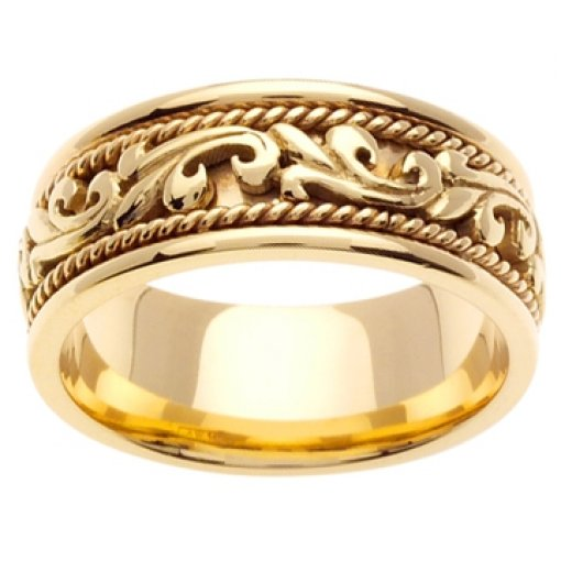 14K Yellow Gold Art Deco Theme