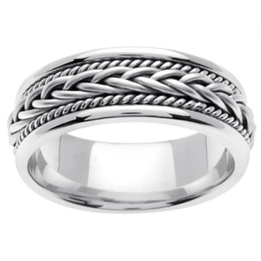 14K White Gold Hand Braided