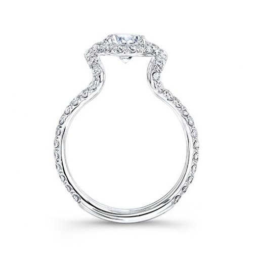 2.18 Carat of Round Cut Halo Diamond Engagement Ring