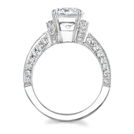 1.96ct Round Cut Pave Diamond Engagement Ring