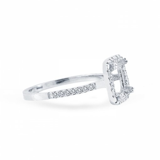 1.88 carat of Asscher Cut F VS1 Diamond Wedding Set in Platinum with French Pave setting