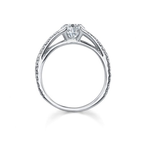 1.41ct GIA Round 18K White Gold Pave Halo Engagement Ring F/SI1 (6157769810)